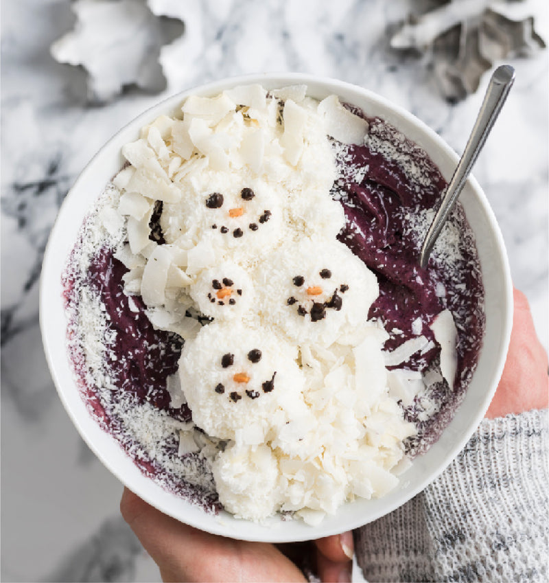 SNOWMAN SMOOTHIE BOWL