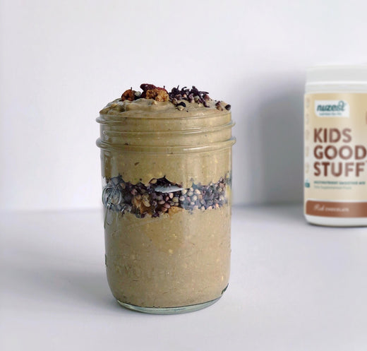 CHOC BANANA PORRIDGE 🍌 BREAKFAST JAR