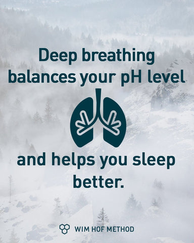 Whim Hof on PH level and sleep improvements