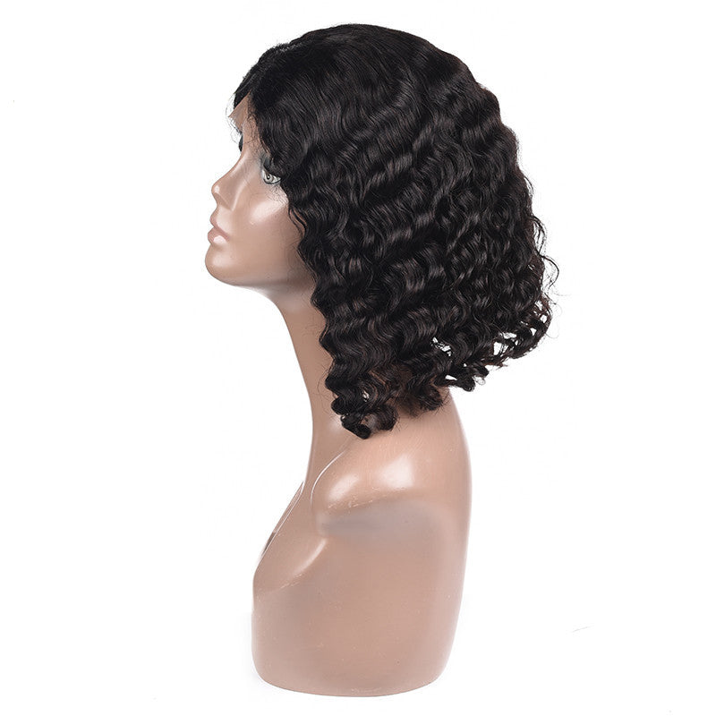 Luvs Hair Virgin Deep Wave Bob Wigs Most Fashionable Hair In Europe And America 100% Human Hair 13x4 Lace Front Wig