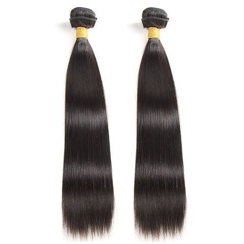 Luvs Hair Brazilian Virgin Straight Hair 2 Bundles 200g Remy Hair Weave 100% Unprocessed Hair Extensions Deals