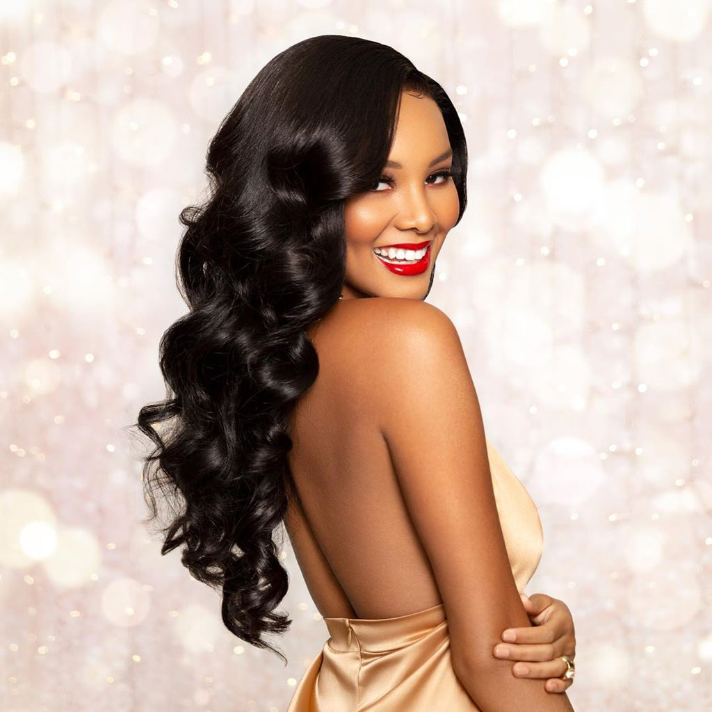 Luvs Hair Virgin Brazilian Body Wave Human Hair 3 Bundles With 13*6 Lace Frontal Closure Wavy Remy Weave On Sale
