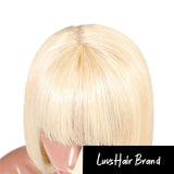 Luvs Hair 613 Blonde Straight Bob Wigs 13x4 Lace Front With Neat Fringe/Bang Brazilian Human Hair Short Bob Wig Products