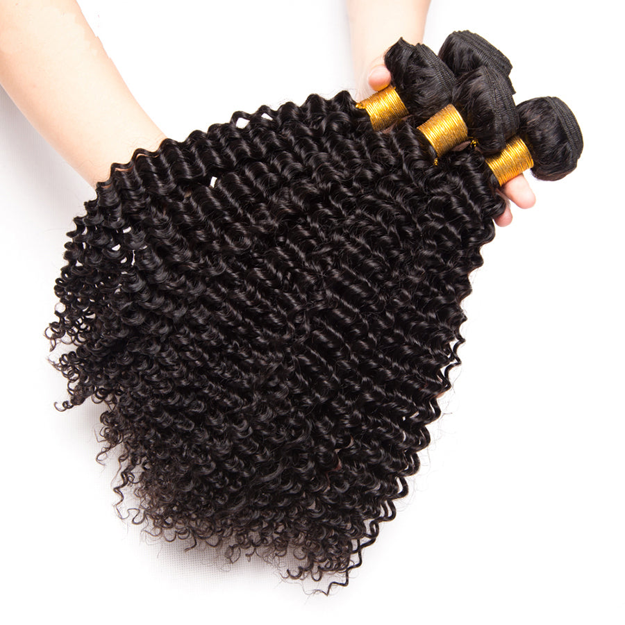 Best Brazilian Kinky Curly Human Braiding Hair 4 Bundles/Pack Luvs Quality Virgin Hair Weave Afro Kinky Human Hair (No-Shedding)