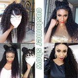 Brazilian Kinky Curly Hair 3 Bundles With 4x4 Lace Closure