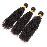 Luvs Hair Graceful Brazilian Kinky Curly Hair Weaving 2 Bundles With 360 Lace Frontal Closure 100% Virgin Human Hair Wefts