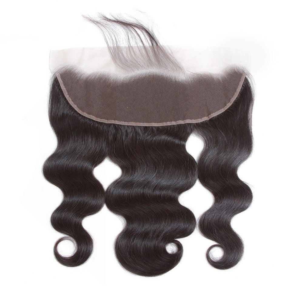 Luvs Hair Remy Brazilian Body Wave Cheap 13x4 Lace Frontal Ear To Ear Human Hair Closure With Baby Hair Free Part