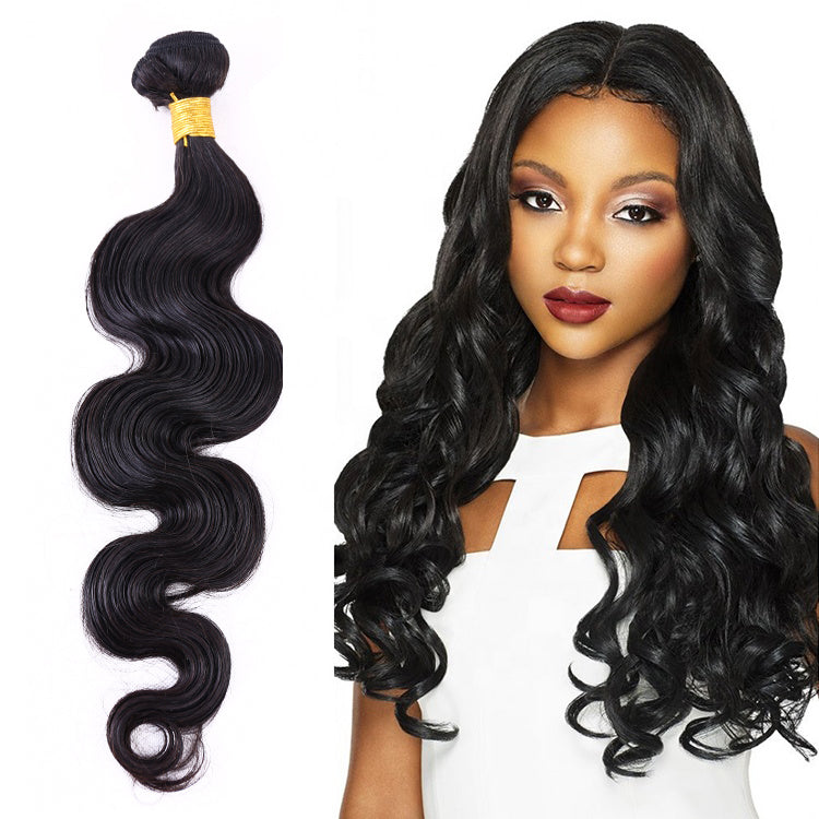 Brazilian Body Wave Hair 2 Bundles With 360 Lace Frontal Closure