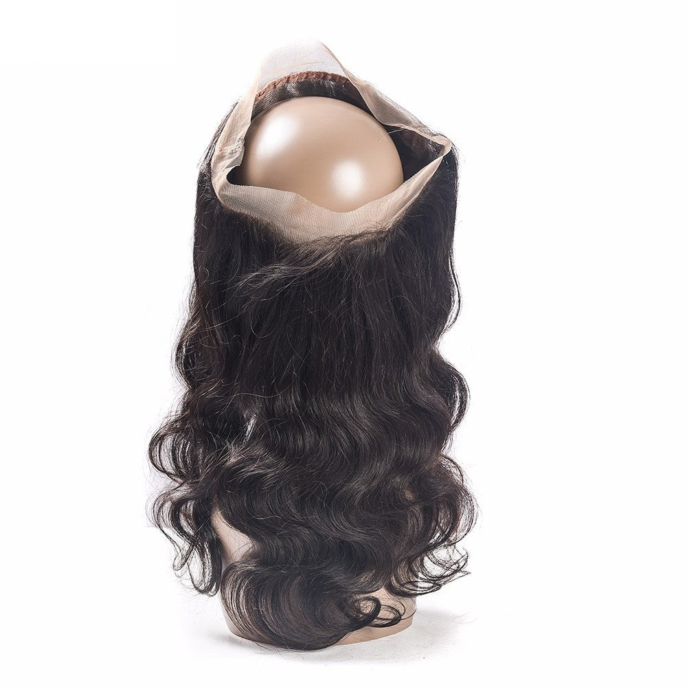 Brazilian Body Wave Hair 3 Bundles With 360 Lace Frontal Closure