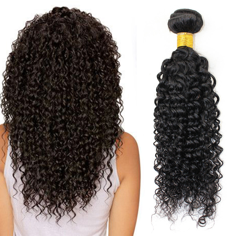 Brazilian Curly Hair 4 Bundles With 13x4 Lace Frontal Closure