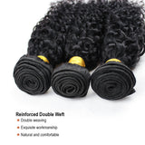 Luvs Hair Bohemian Brazilian Curly Hair 2 Bundles With 360 Lace Frontal Closure #1B Natural Black 100% Human Weave