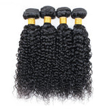 Brazilian Curly Hair 3 Bundles With 4x4 Lace Closure