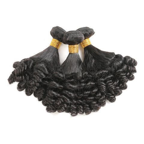 Luvs Hair Sweet Brazilian Funmi Hair 3 Bundles With 4x4 Lace Closure For African American Women Human Hair Weave