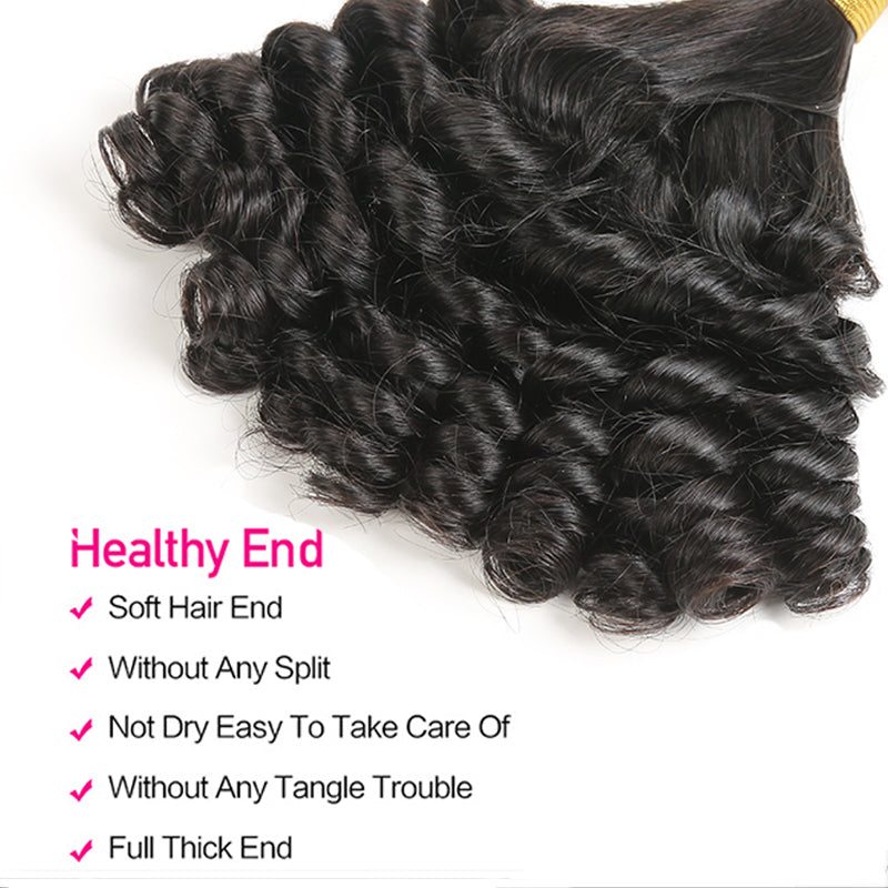 Luvs Hair Comely Funmi Hair 4 Bundles Virgin Human Brazilian Hair Weave Natural Color Best Sale For Black Women