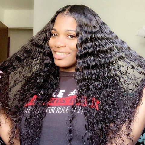 Brazilian Deep Wave Hair 3 Bundles, Deep Wave Curls Weave Hairstyles
