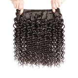 Luvs Hair Classy Girls Brazilian Deep Wave Hair 2 Bundles With 360 Lace Frontal Closure 100% Virgin Human Remy Hair Weave