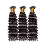 Luvs Hair Virgin Brazilian Deep Wave Hair 4 Pcs With 4x4 Lace Closure Double Weft Human Hair Extensions