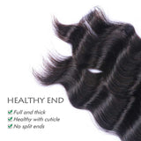 Unprocessed Brazilian Loose Deep Wave 4 Bundles/Packet, Natural Color Remy Soft Human Hair