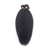 Luvs Hair 4 Bundles Brazilian Kinky Straight Hair Weave With 4x4 Lace Closure Pre Plucked Baby Hair Virgin Human Hair