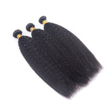 Luvs Hair Kinky Straight Hair 1 Bundle Natural Color Unprocessed Brazilian Human Hair Yaki Texture