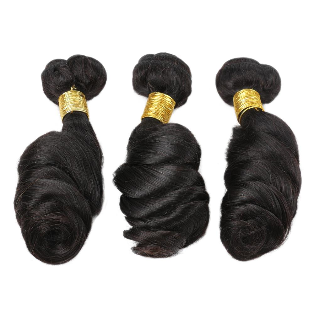 Luvs Hair Factory Price Brazilian Loose Wave Hair 3 Bundles Human Hair Weave With Virgin 360 Frontal Closure