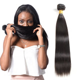 Brazilian Straight Hair 4 Bundles With 13x4 Lace Frontal Closure