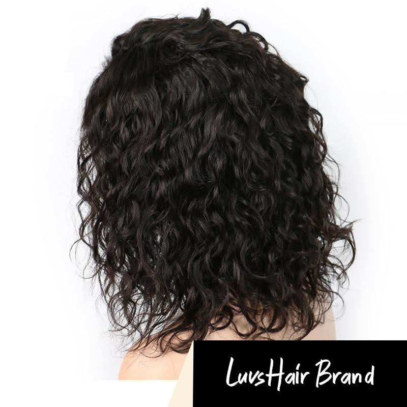 Luvs Hair 100% Unprocessed Curly Bob Wigs 13x4 Lace Front Non-Chemical Virgin Brazilian Short Human Hair Wigs Best Quality