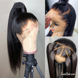 Luvs Hair Fake Scalp Wig Luxurious Undetectable Glueless Brazilian Straight Hair 150% Density 13x6 Lace Frontal Wigs