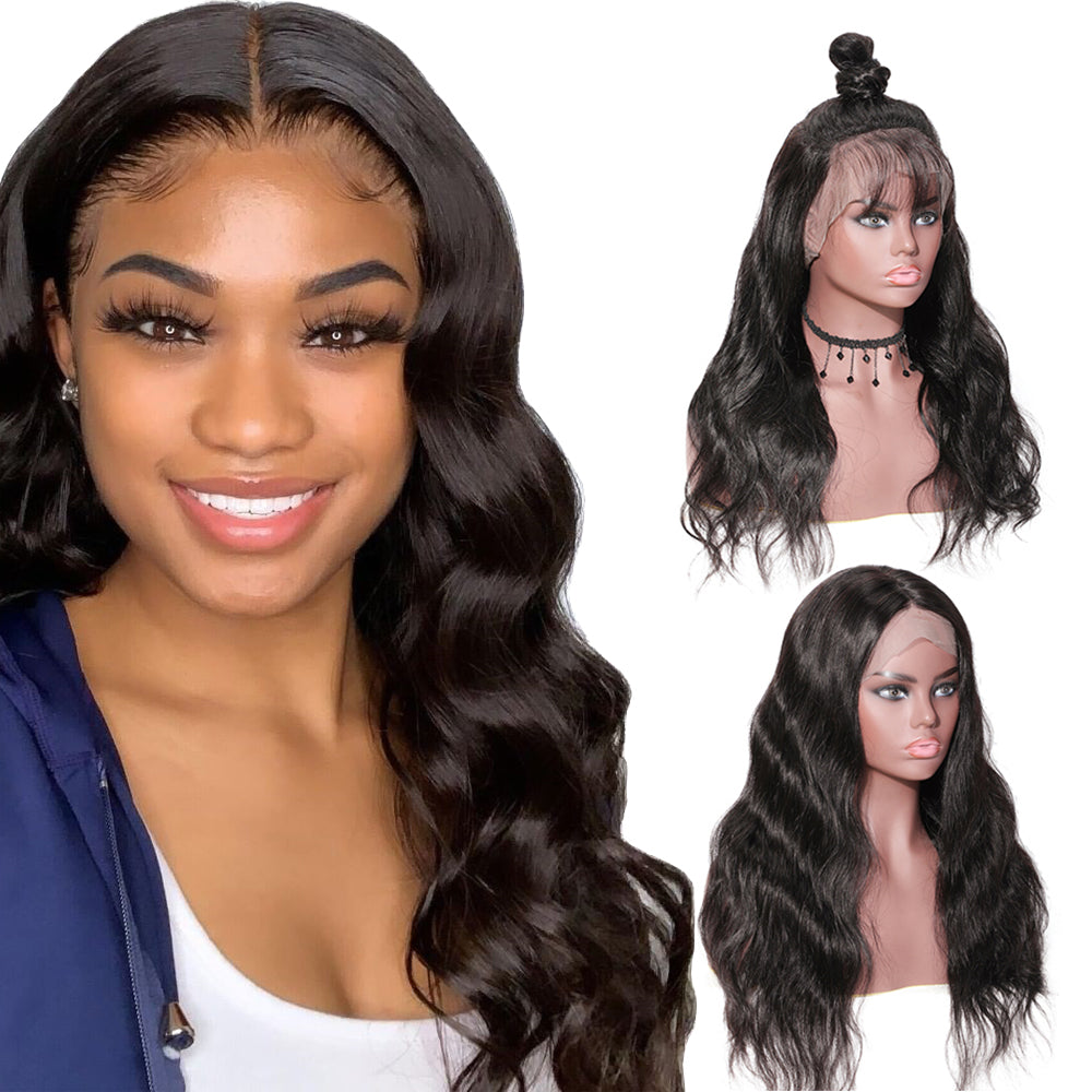 Wavy Full Lace Wigs Body Wave Pre-Plucked Natural Hairline Human Hair Mink Brazilian Lace Wig With Baby Hair Hot Sale