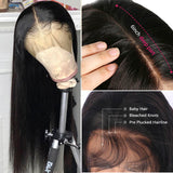 Luvs Hair Lace Front Wigs Silky Straight Brazilian Human Hair 13*4/13*6 Pre Plucked Hairline 10- 26 Inch