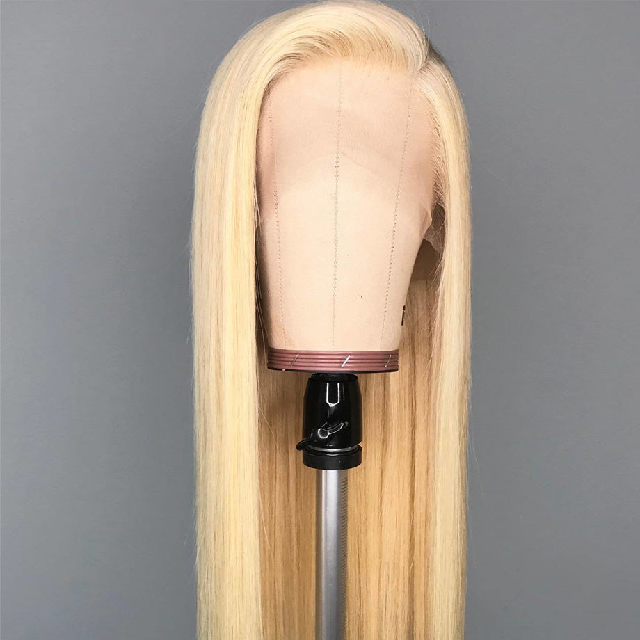 Luvs Hair 613 Blonde Hair Color Straight Human Hair 13x4 Pre Plucked Virgin Lace Front Wigs Soft & Durable Swiss Lace