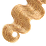 Luvs Hair Two Tone T1B/27 Ombre Brazilian Body Wave Hair 3 Bundles With 4x4 Lace Closure Wavy Virgin Hair Weave