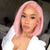 Luvs Hair Virgin Pink Bob Wigs Straight 13x4 Lace Front Fashion Short Human Hair Wig For Black Women