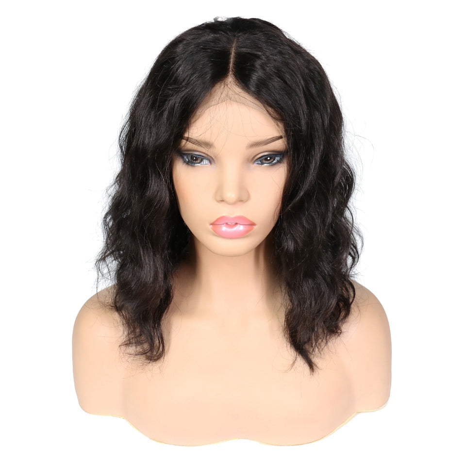 Luvs Hair 13*4 Lace Front Short Bob Human Hair Wigs Body Wave 180% Density Remy Brazilian Pre Plucked Baby Hair