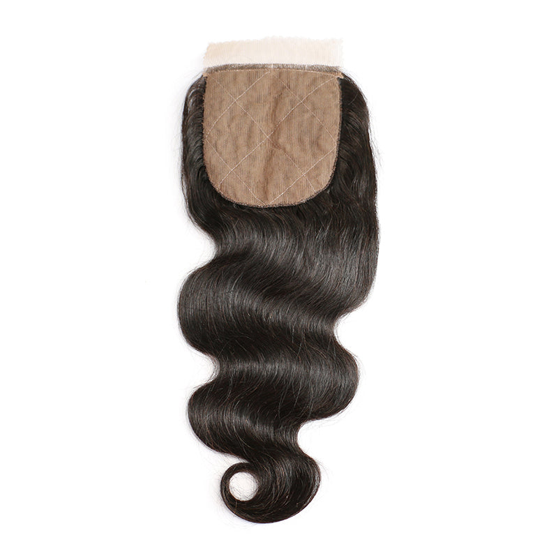 Luvs Hair 1Piece/Pack Brazilian Hair Body Wave 4x4 Silk Base Bleached Knots Lace Closure Virgin Human For Sew-In