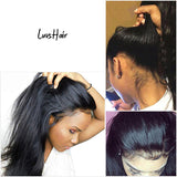 Luvs Hair Shiny Virgin 360 Lace Frontal Wigs Soft And Long Straight Brazilian Human Hair Wig 200% Density