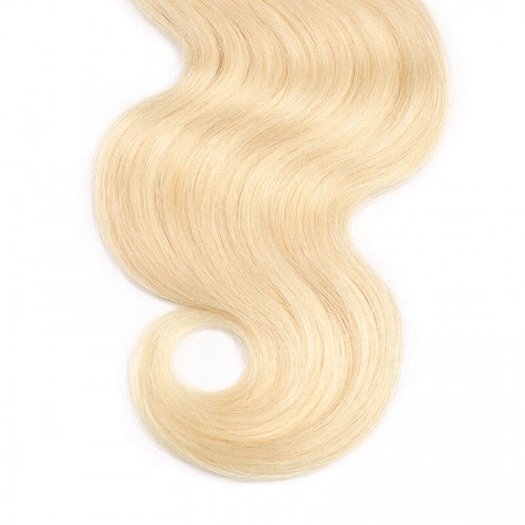 Luvs Hair 3 Bundles Body Wave T1B/613 Blonde Brazilian Hair 2 Tone Color Ombre Wavy Human Hair Weaves