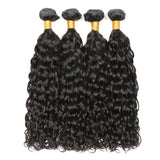 Brazilian Wet And Wavy Hair Virgin Water Wave Natural Color Remy Soft Hair 4 Bundles With Closure