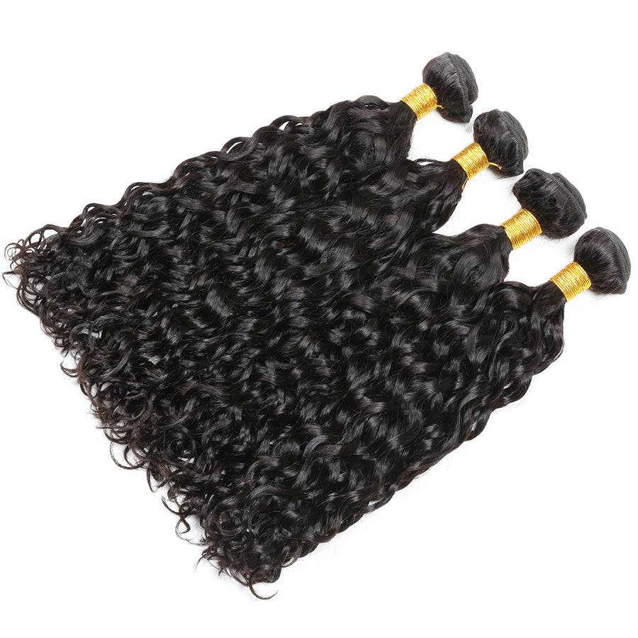 Brazilian Wet And Wavy Hair 3 Bundles Water Wave Human Hair