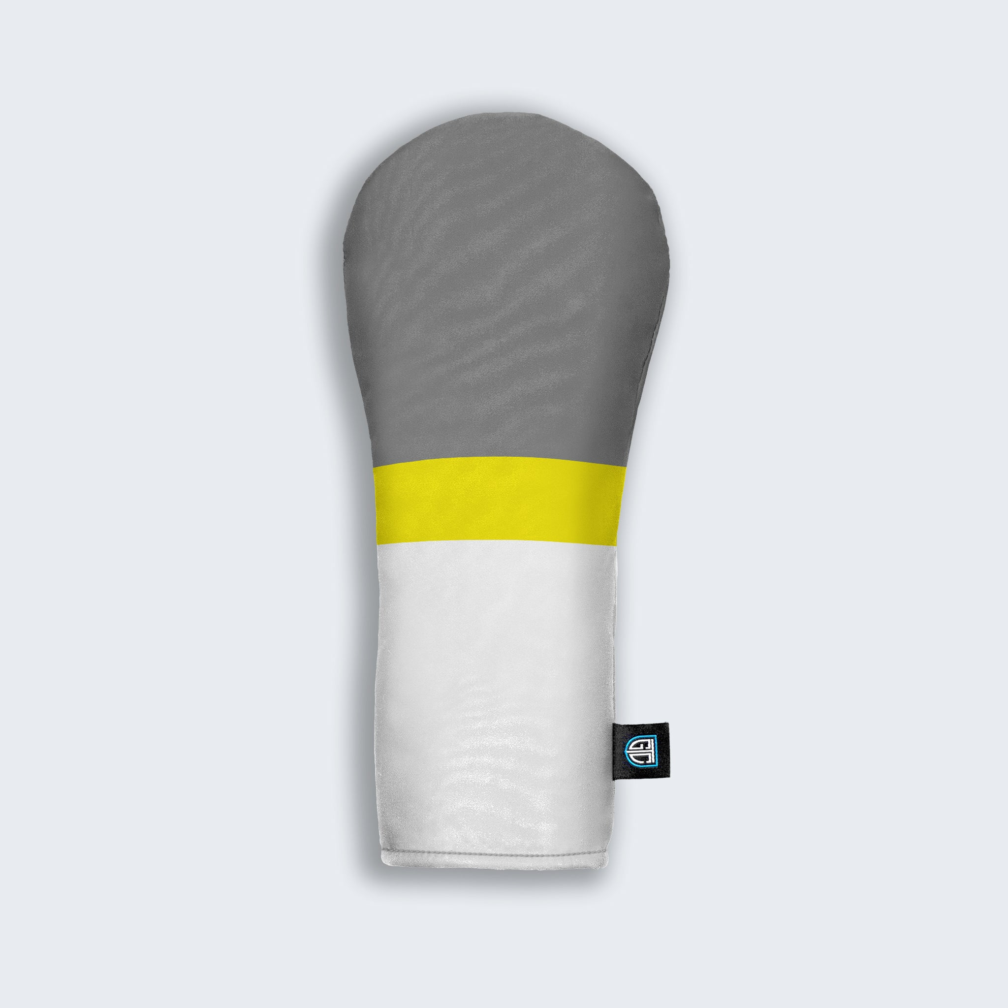 Grey/Yellow/White Head Covers - personalised golf clothing, golf teamwear, Head Covers, Towels & accessories online