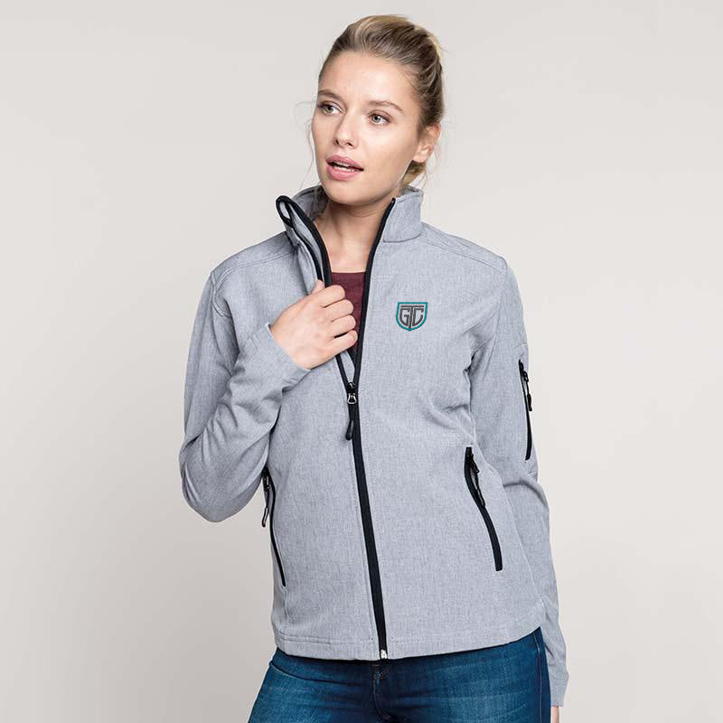 GTC Women's Softshell Jacket - personalised golf clothing, golf teamwear, Head Covers, Towels & accessories online