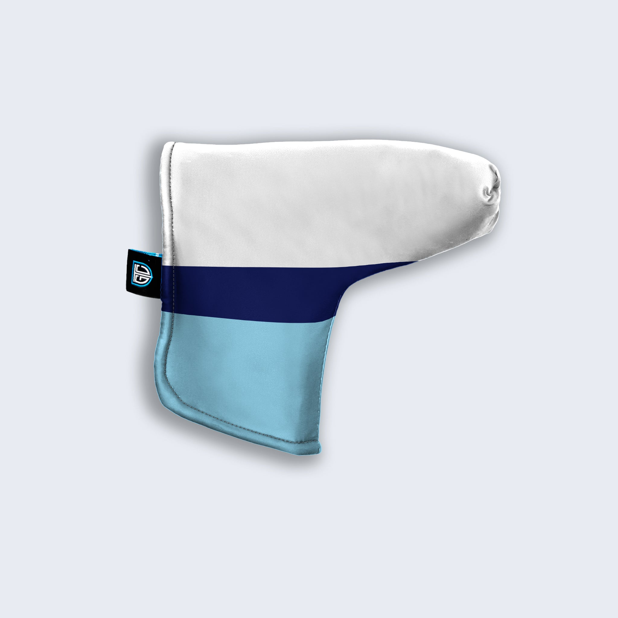 White/Navy/Blue Head Covers - personalised golf clothing, golf teamwear, Head Covers, Towels & accessories online