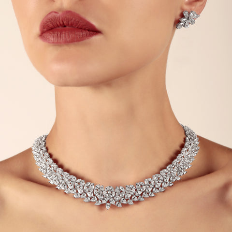 bridal diamond necklace style