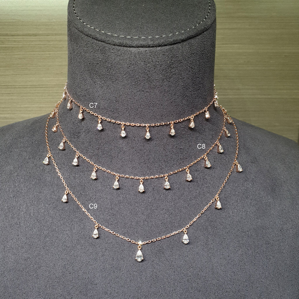 diamond choker rose gold necklace