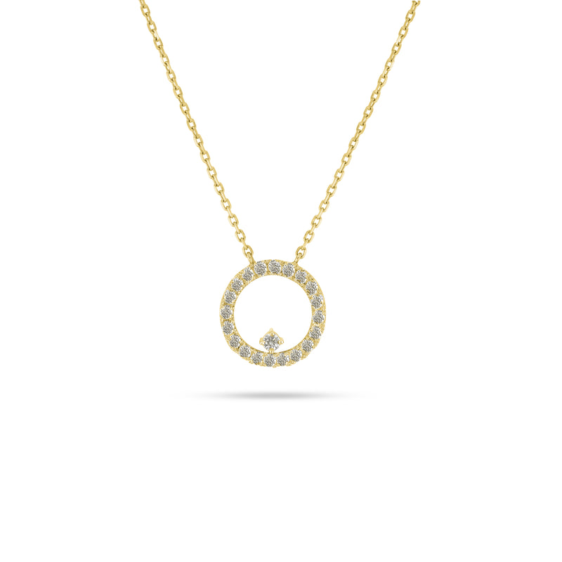 Floating Halo Diamond Pendant