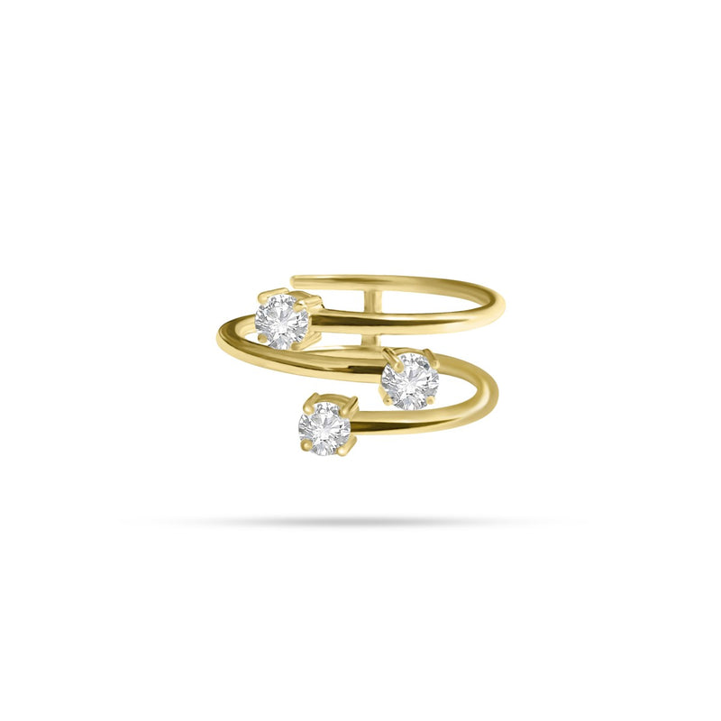 Spring Round Diamond Ring