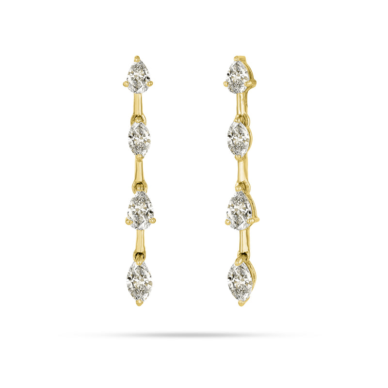 Bridge Marquise & Pear Diamond Earrings