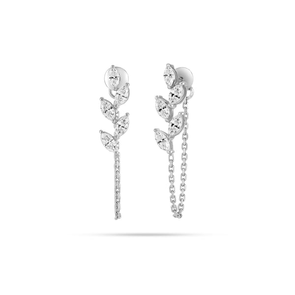 Chain Marquise Diamond Earrings