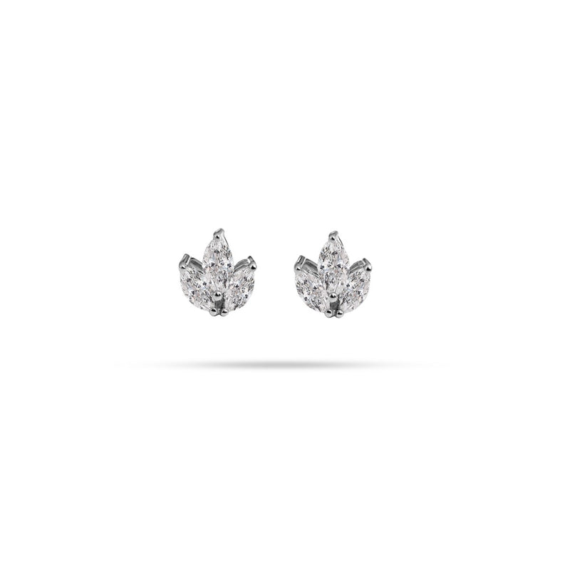 Trio Marquise Diamond Stud Earrings