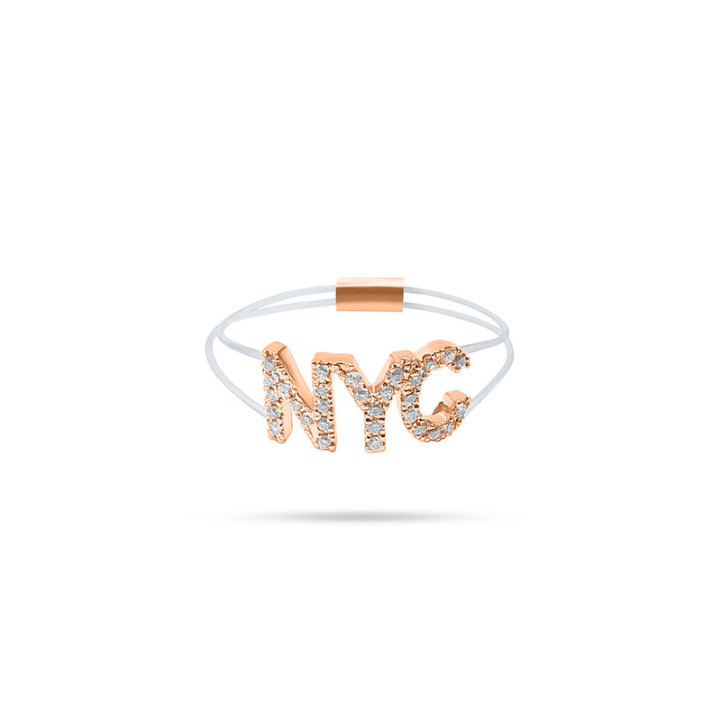 Floating 'NYC' Diamond Ring